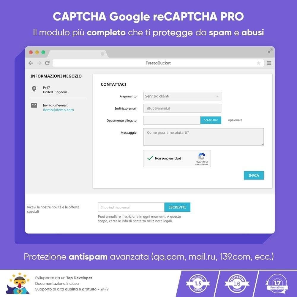 module - Sicherheit & Brechtigungen - CAPTCHA Google reCAPTCHA PROFI + Anti-Fälschungen - 8