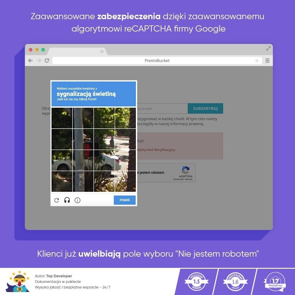 module - Bezpieczeństwa & Dostępu - CAPTCHA Google reCAPTCHA PRO + anty Fałszywe Konta - 7