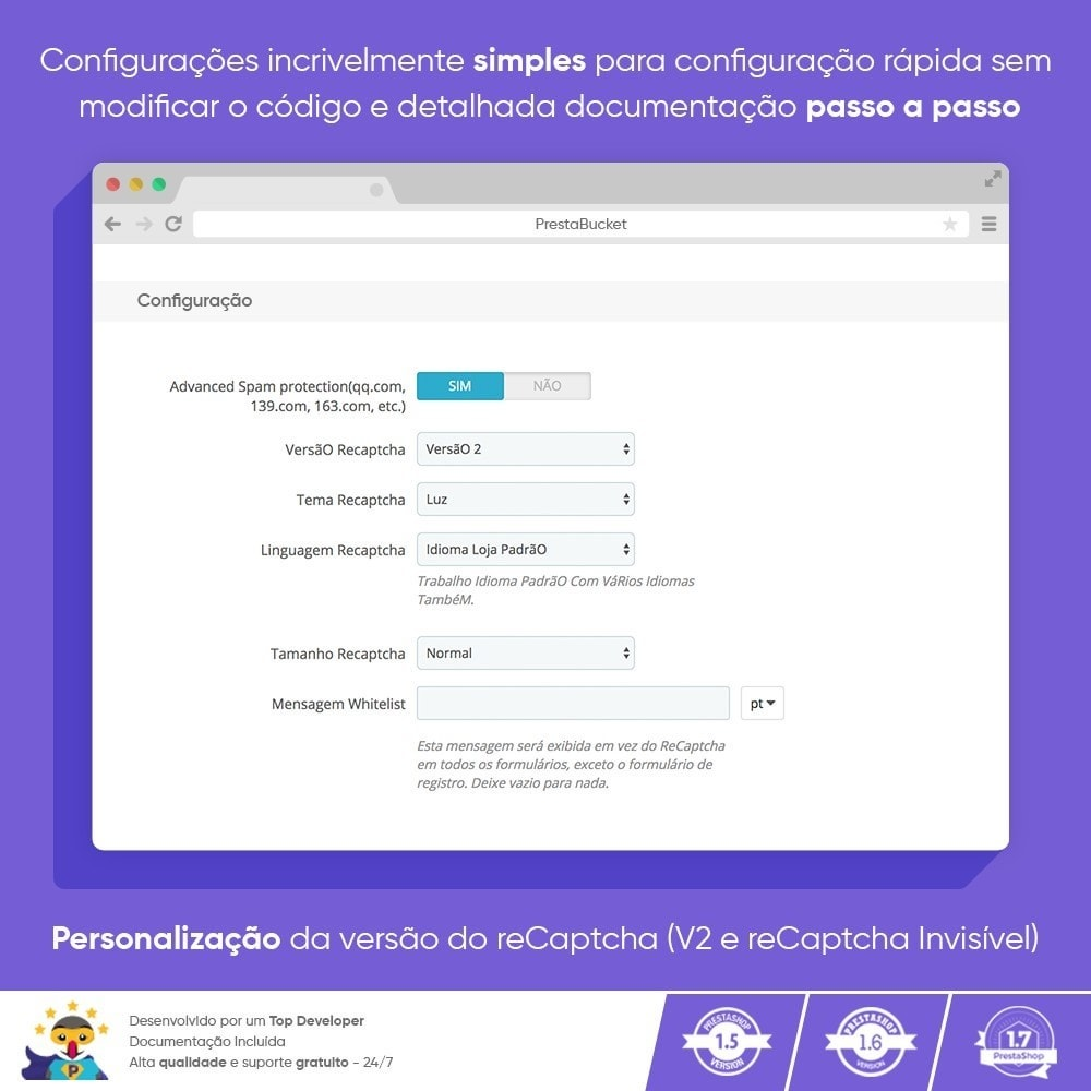 module - Segurança & Acesso - CAPTCHA Google reCAPTCHA PRÓ + anti Contas Falsas - 4