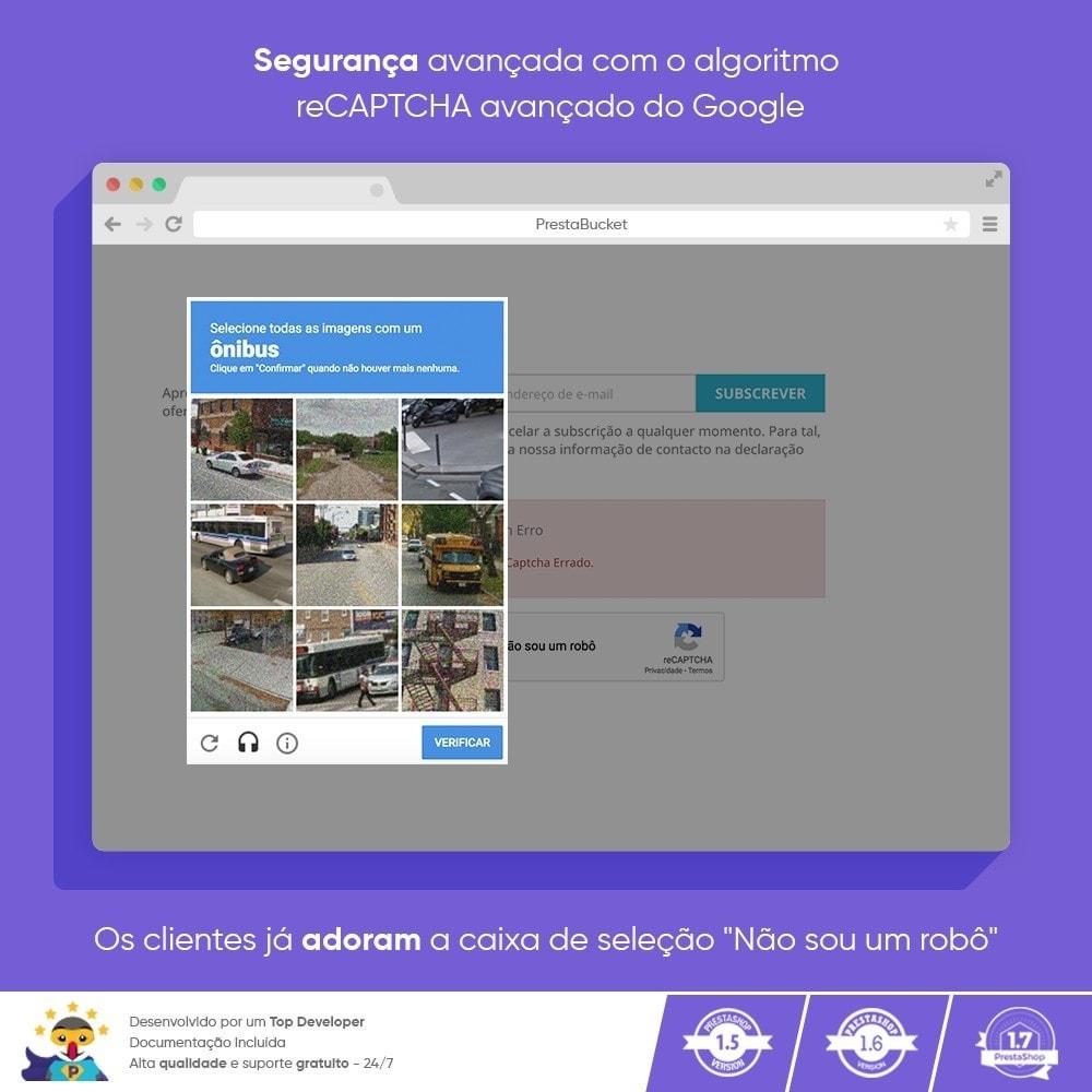 module - Segurança & Acesso - CAPTCHA Google reCAPTCHA PRÓ + anti Contas Falsas - 7