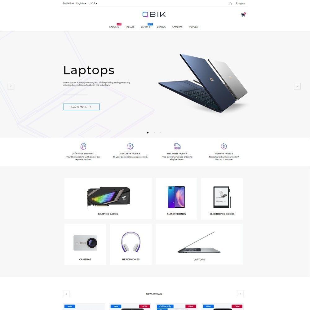 theme - Electronics & Computers - Qbik - High-tech Shop - 2