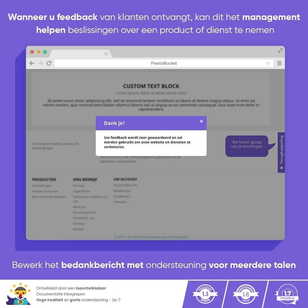 module - Klantbeoordelingen - Klant FEEDBACK - Verzamel Vitale Informatie - 10