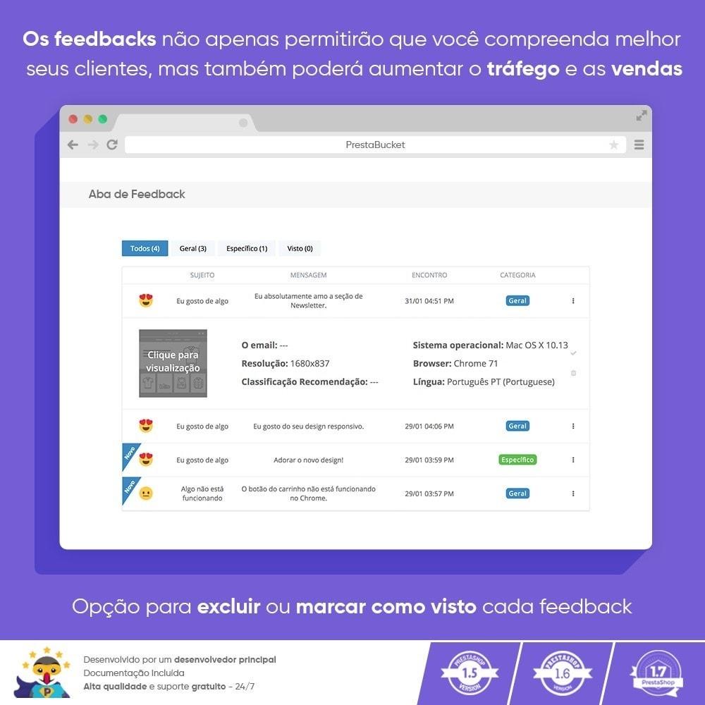 module - Opiniões de clientes - Cliente Avançado FEEDBACK Coletar Informações Vitais - 6