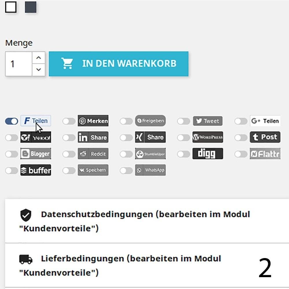 module - Rechtssicherheit - DSGVO Social Media Share Buttons Pro 2019 - 2