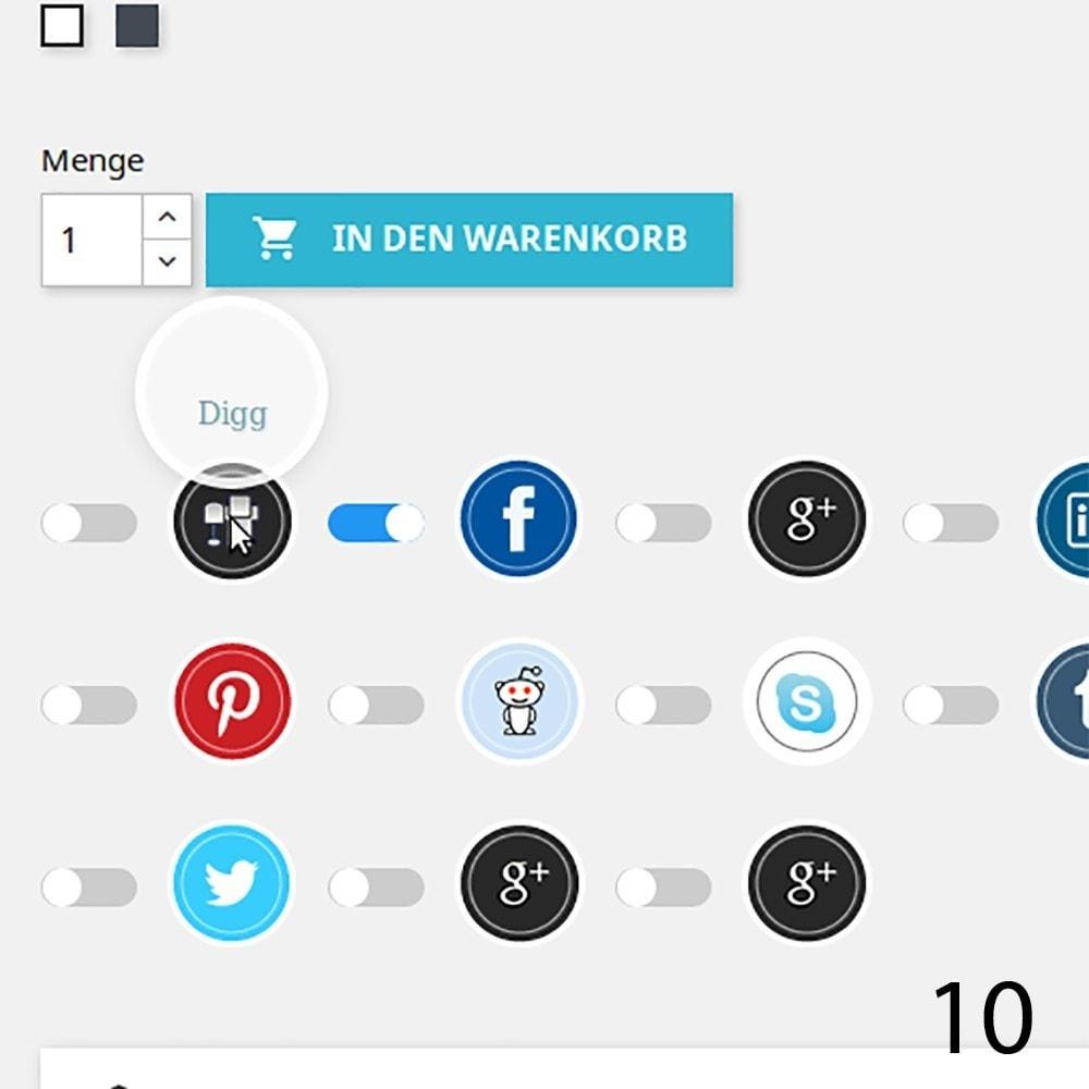 module - Rechtssicherheit - DSGVO Social Media Share Buttons Pro 2019 - 10