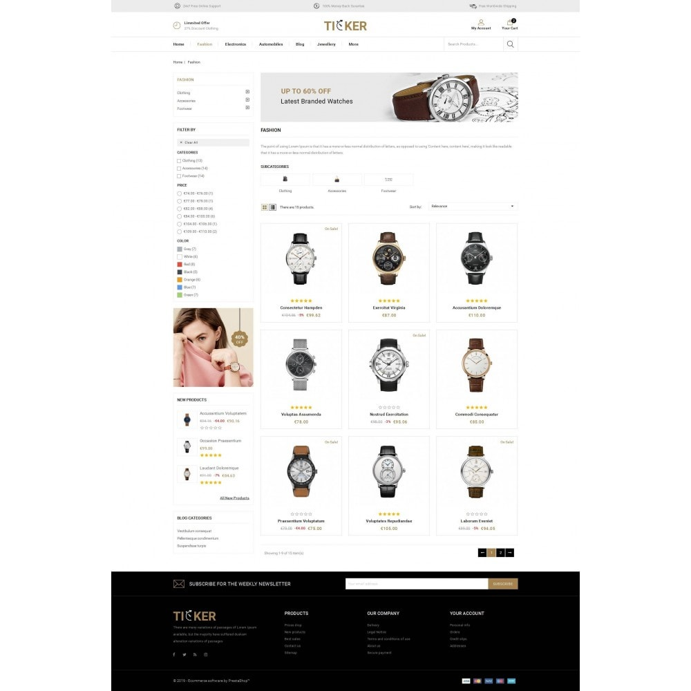 theme - Biżuteria & Akcesoria - Ticker - Watch Store - 3