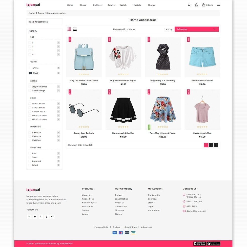 theme - Moda & Calçados - Wearpal - The Fashion Store - 3