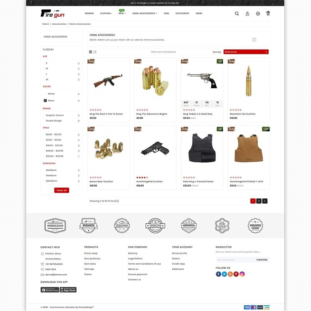 theme - Sports, Activities & Travel - Firegun - Gun & Weapons Store - 3