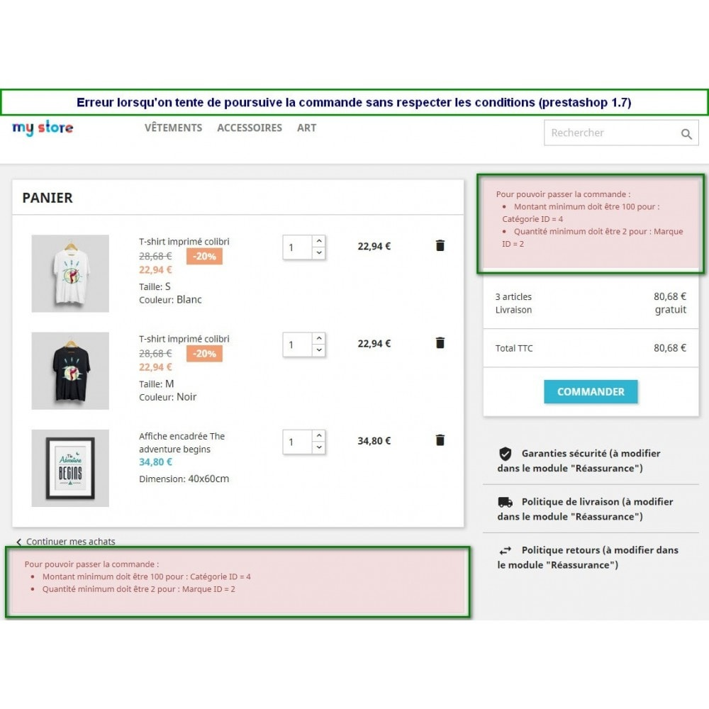 module - Pегистрации и оформления заказа - Multiple Order Limits : By Category, Supplier or Brand - 2