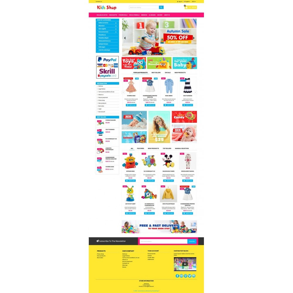 theme - Kinderen & Speelgoed - New Kids shop, Toy, play, cloths Multicolor store - 9