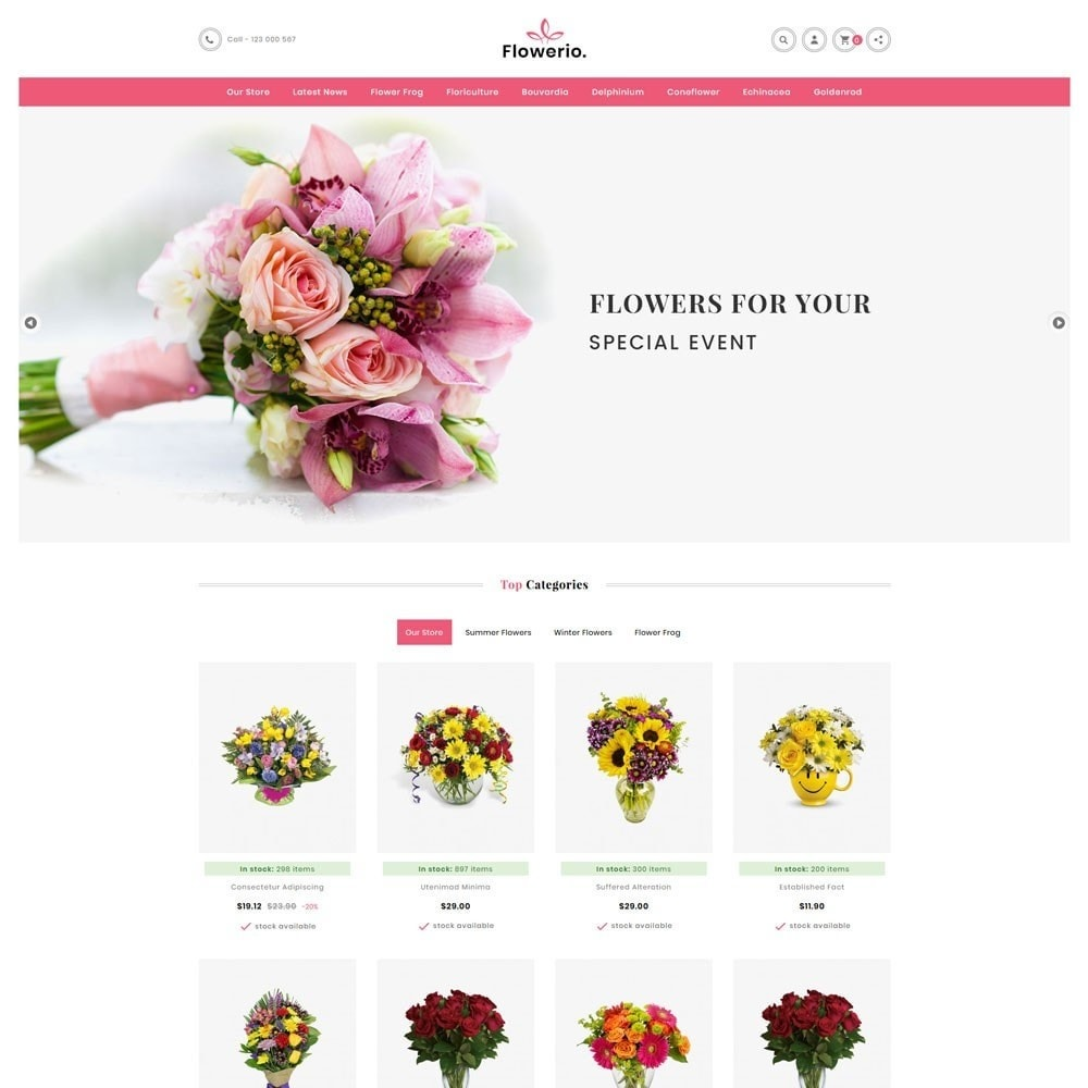 theme - Cadeaus, Bloemen & Gelegenheden - Flowerio - The Flower Shop - 2
