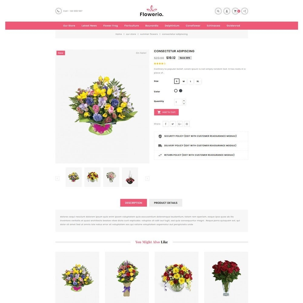 theme - Cadeaus, Bloemen & Gelegenheden - Flowerio - The Flower Shop - 5