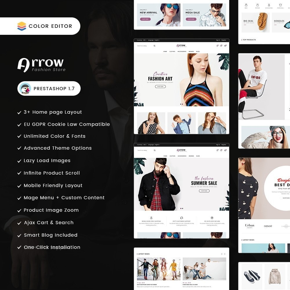 theme - Mode & Chaussures - Arrow Fashion Store - 1