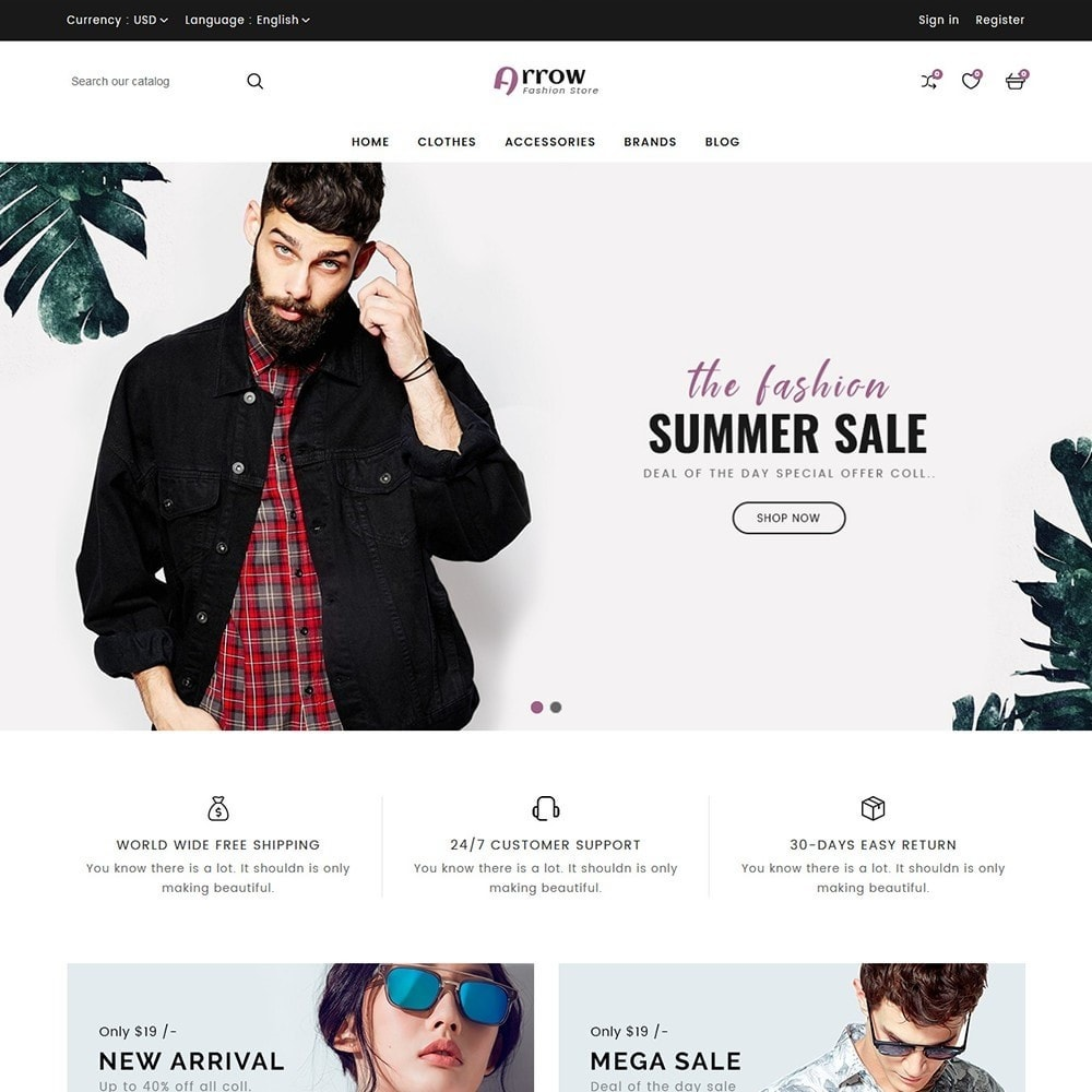 theme - Moda & Calçados - Arrow Fashion Store - 3