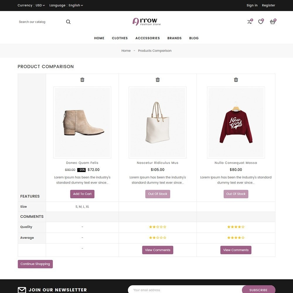theme - Mode & Chaussures - Arrow Fashion Store - 9