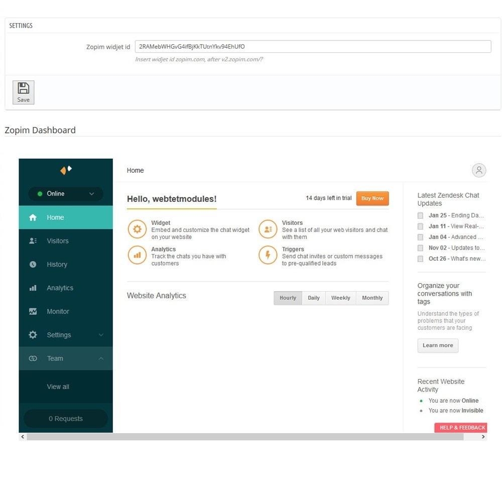 module - Поддержка и онлайн-чат - Онлайн чат от Zendesk - 3