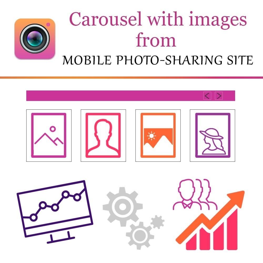 module - Слайдеров (карусельных) и галерей - Карусель с фото вашего профиля или с хештегом Инстаграм - 1