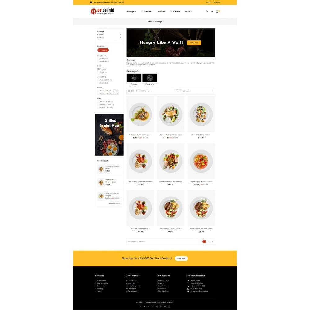 theme - Food & Restaurant - De Delight - Restaurant & Dishes - 3