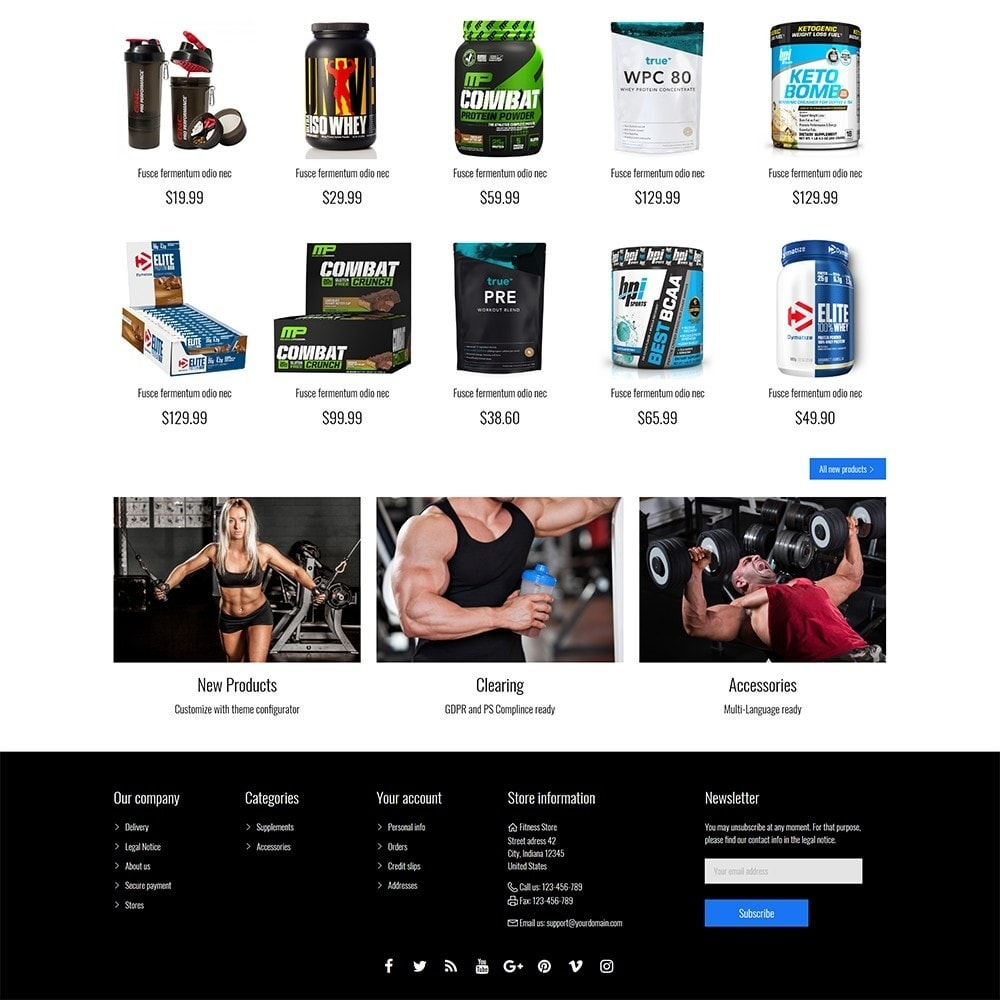 theme - Sports, Activities & Travel - Fitness Store - 5