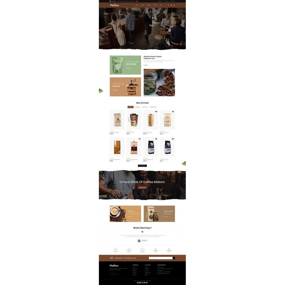 theme - Напитки и с сигареты - Flevico - Tea & Coffee Shop - 2