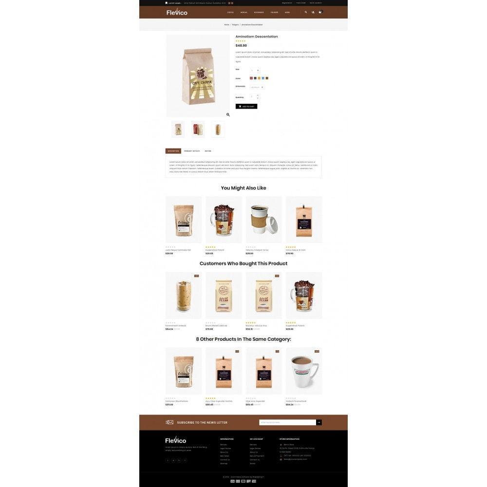 theme - Напитки и с сигареты - Flevico - Tea & Coffee Shop - 4