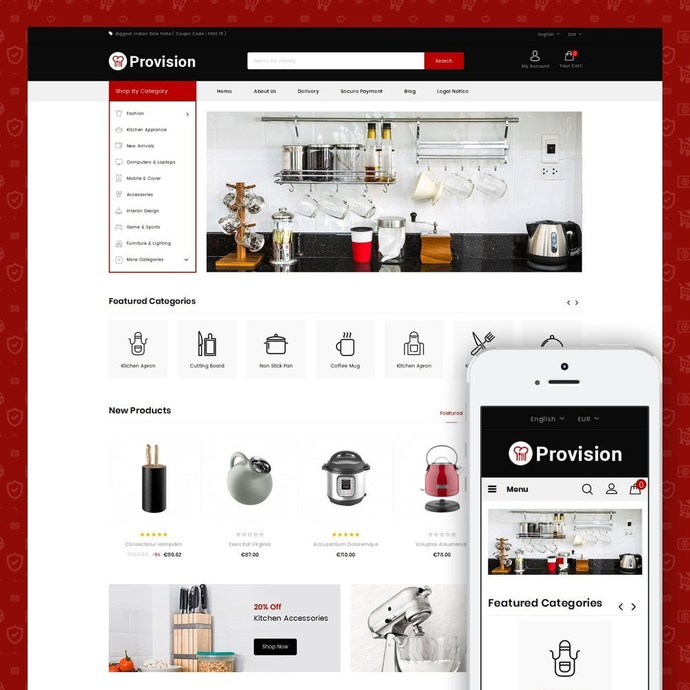 theme - Дом и сад - Provision - Kitchen Store - 1