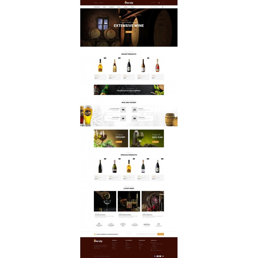 theme - Bebidas y Tabaco - Onesip  - Wine & Drink Shop - 2