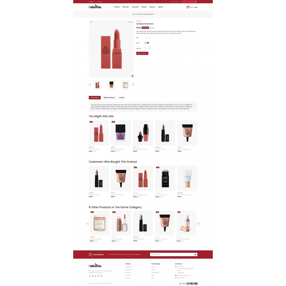 theme - Saúde & Beleza - Fabulla - Cosmetic Shop - 4