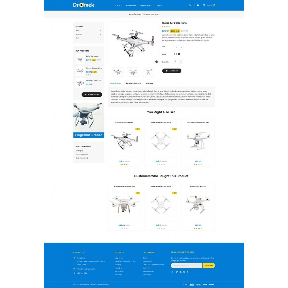theme - Electronics & Computers - Dromek - Drone Camera Shop - 4