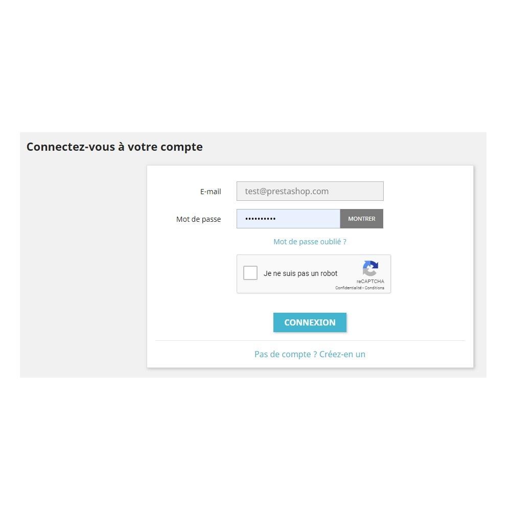 module - Sécurité & Accès - reCaptcha - Google Anti Spam - 2