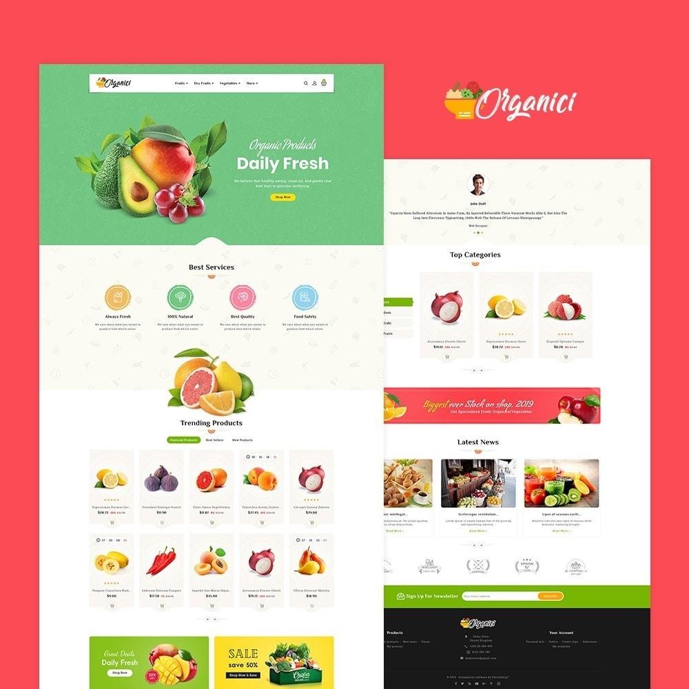 theme - Food & Restaurant - Organics - Vegetables & Fresh Fruits - 2