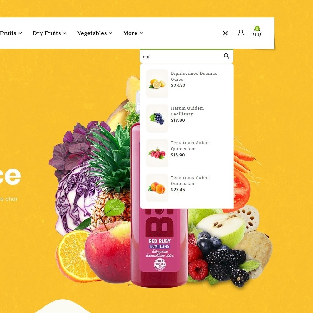 theme - Food & Restaurant - Organics - Vegetables & Fresh Fruits - 10