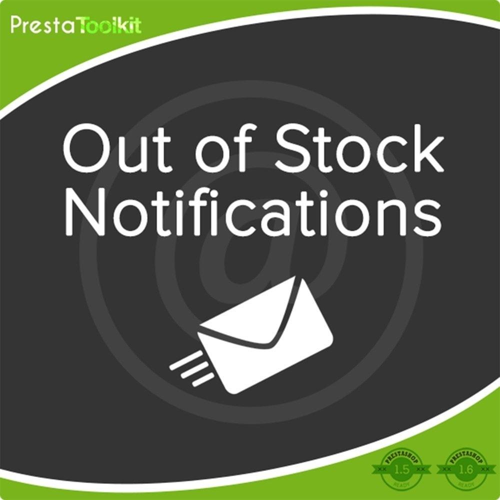 module - Emails & Notificaties - Niet op voorraad Melding - 2