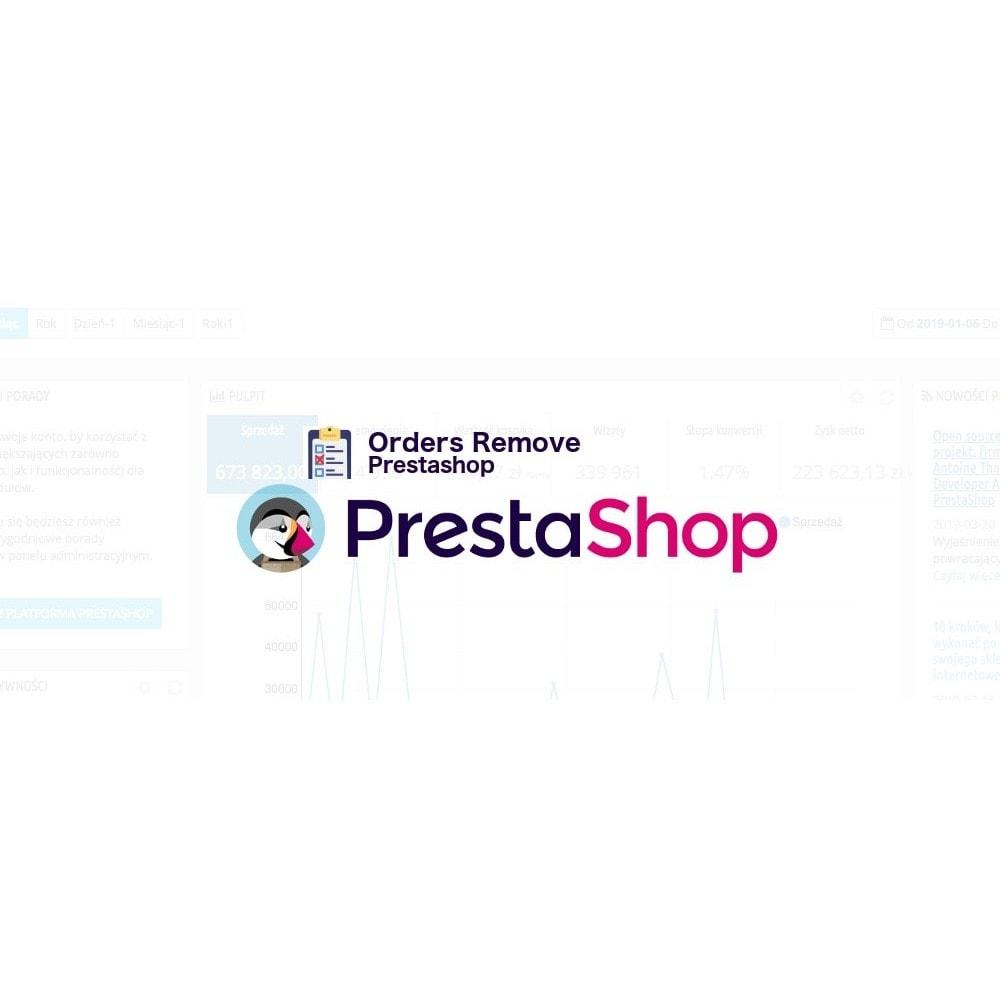 module - Gestión de Pedidos - Orders remover via Admin in Prestashop - 1
