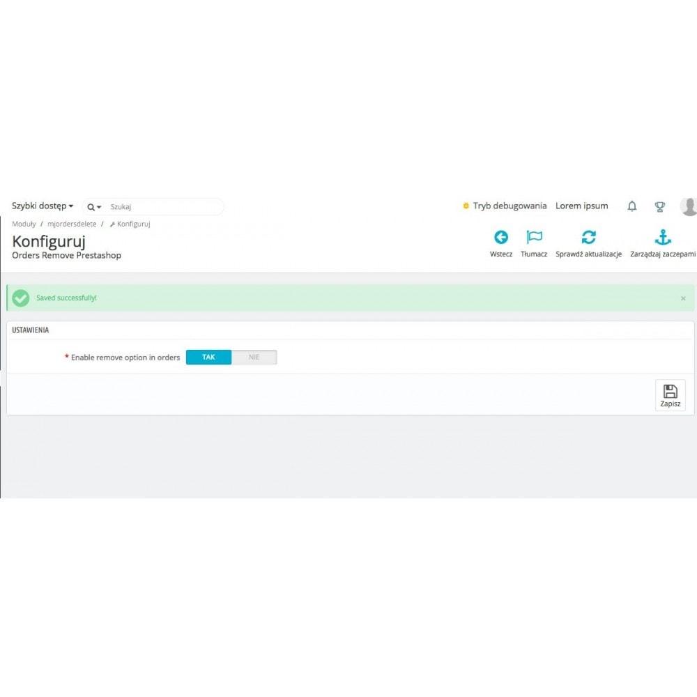 module - Gestión de Pedidos - Orders remover via Admin in Prestashop - 2