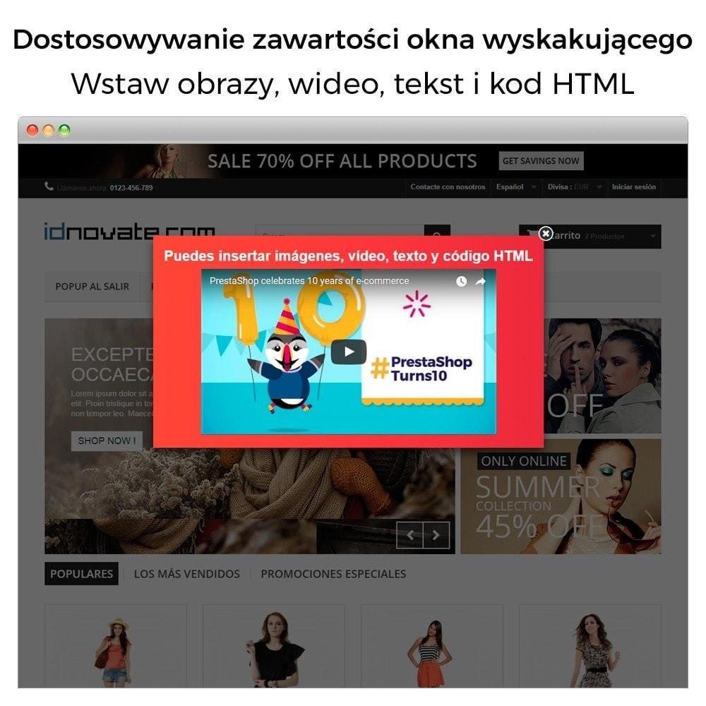 module - Pop-up - Popup: wejście, wyjście, dodanie produktu i newsletter - 2