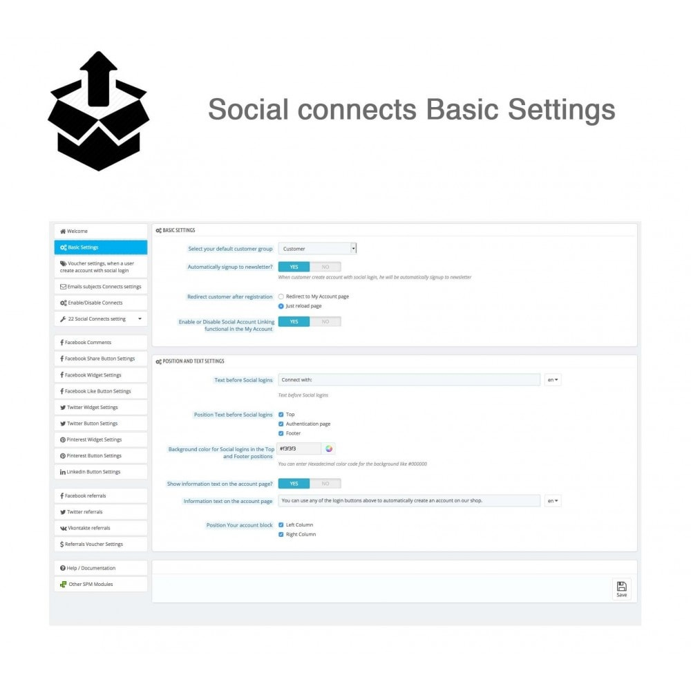 module - Inloggen - Social Pack: Connects, Referrals, Plugins (34 in 1) - 32