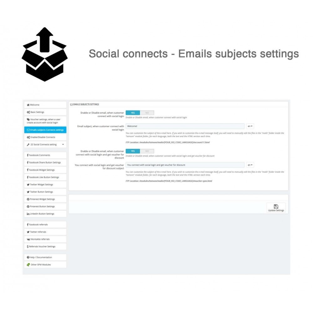 module - Inloggen - Social Pack: Connects, Referrals, Plugins (34 in 1) - 34