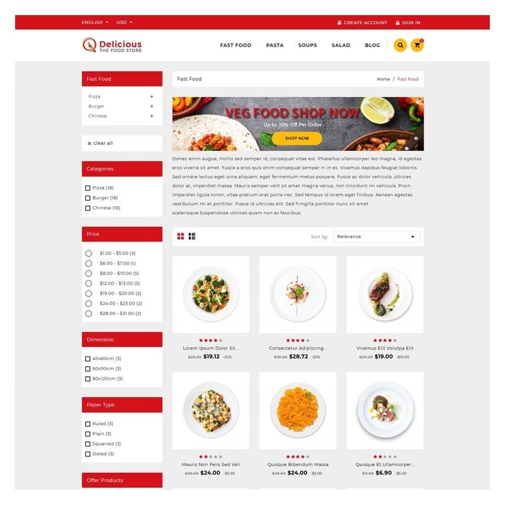 theme - Żywność & Restauracje - Delicious Food & Restaurant Store - 3