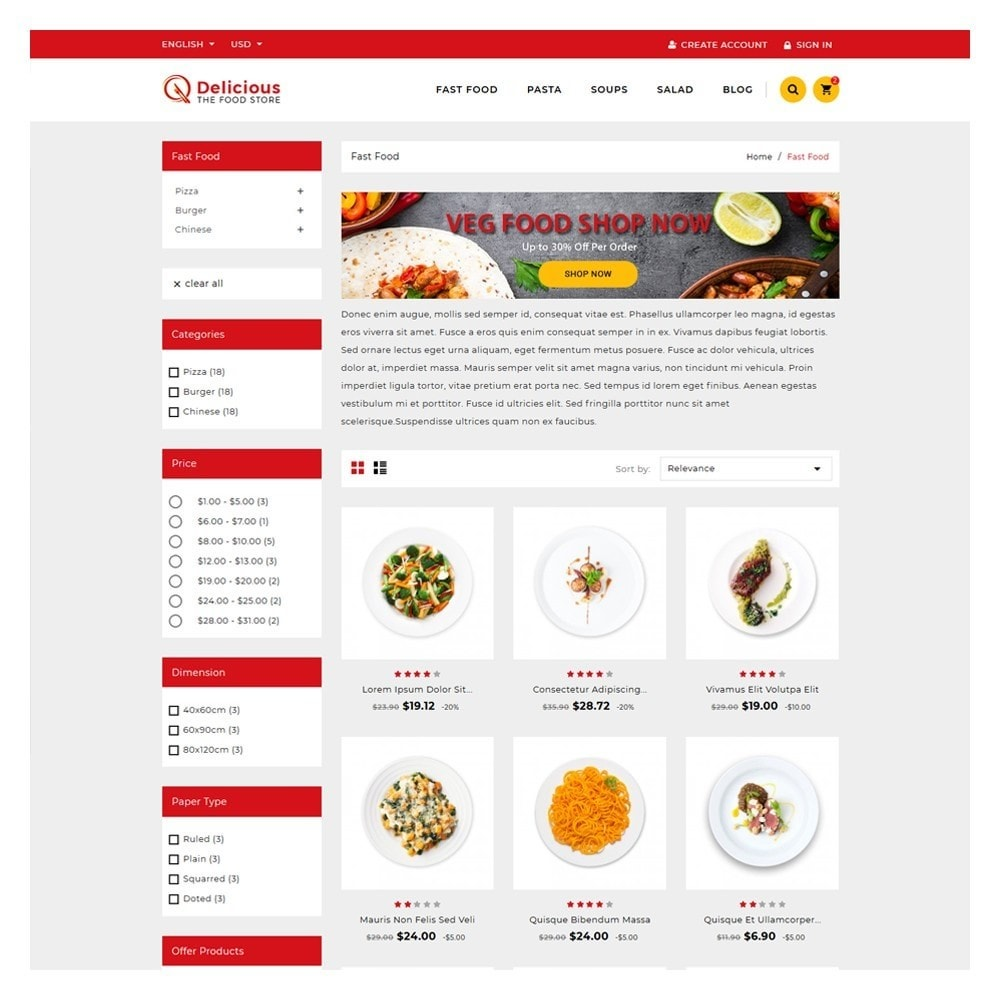 theme - Eten & Restaurant - Delicious Food Shop - 3