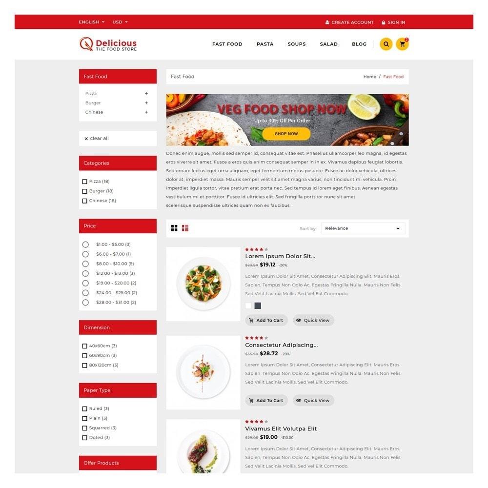 theme - Żywność & Restauracje - Delicious Food & Restaurant Store - 4