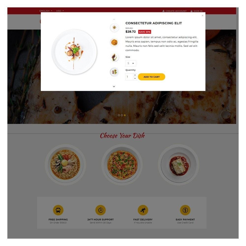 theme - Żywność & Restauracje - Delicious Food & Restaurant Store - 9