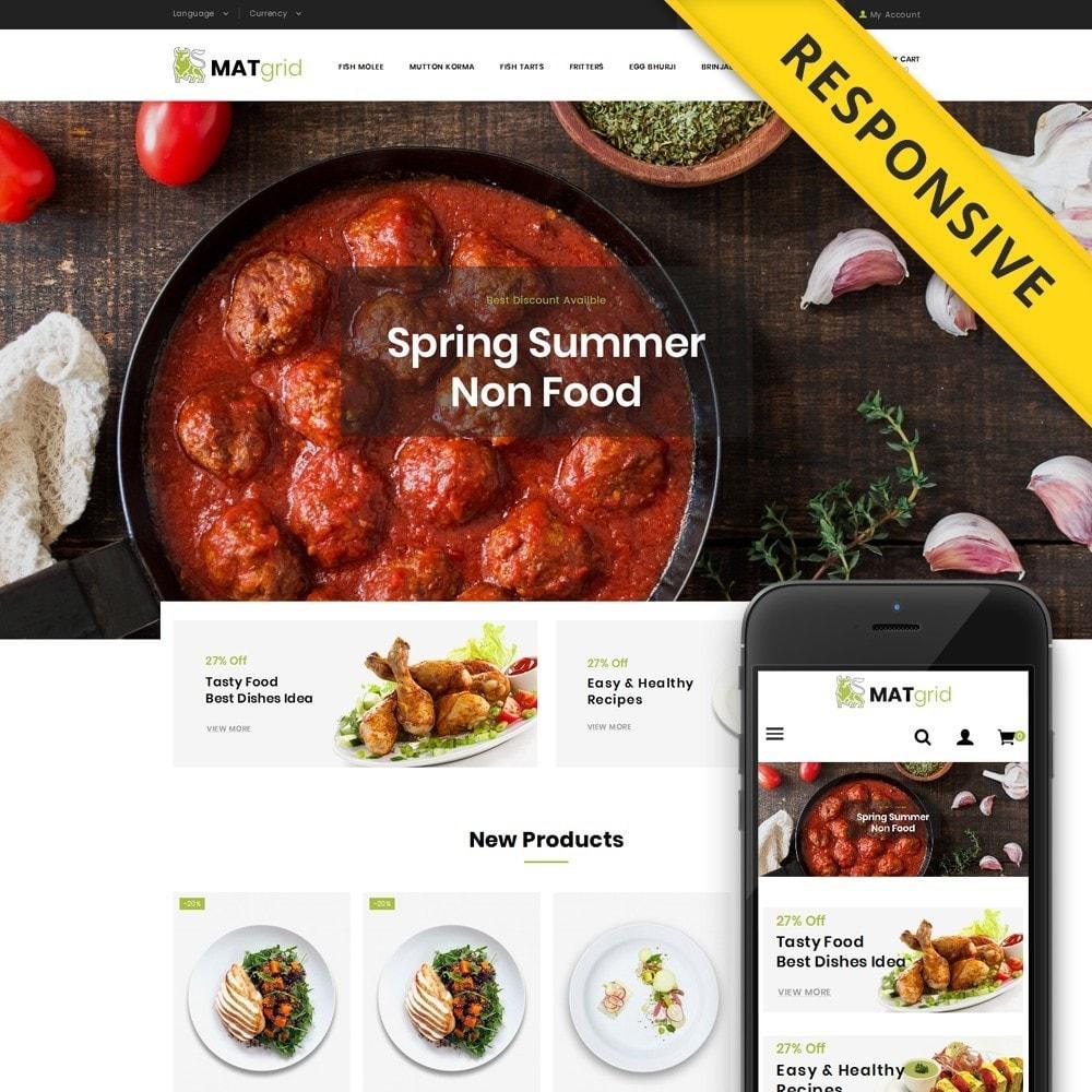 theme - Alimentos & Restaurantes - Matgrid - Restaurants Store - 1