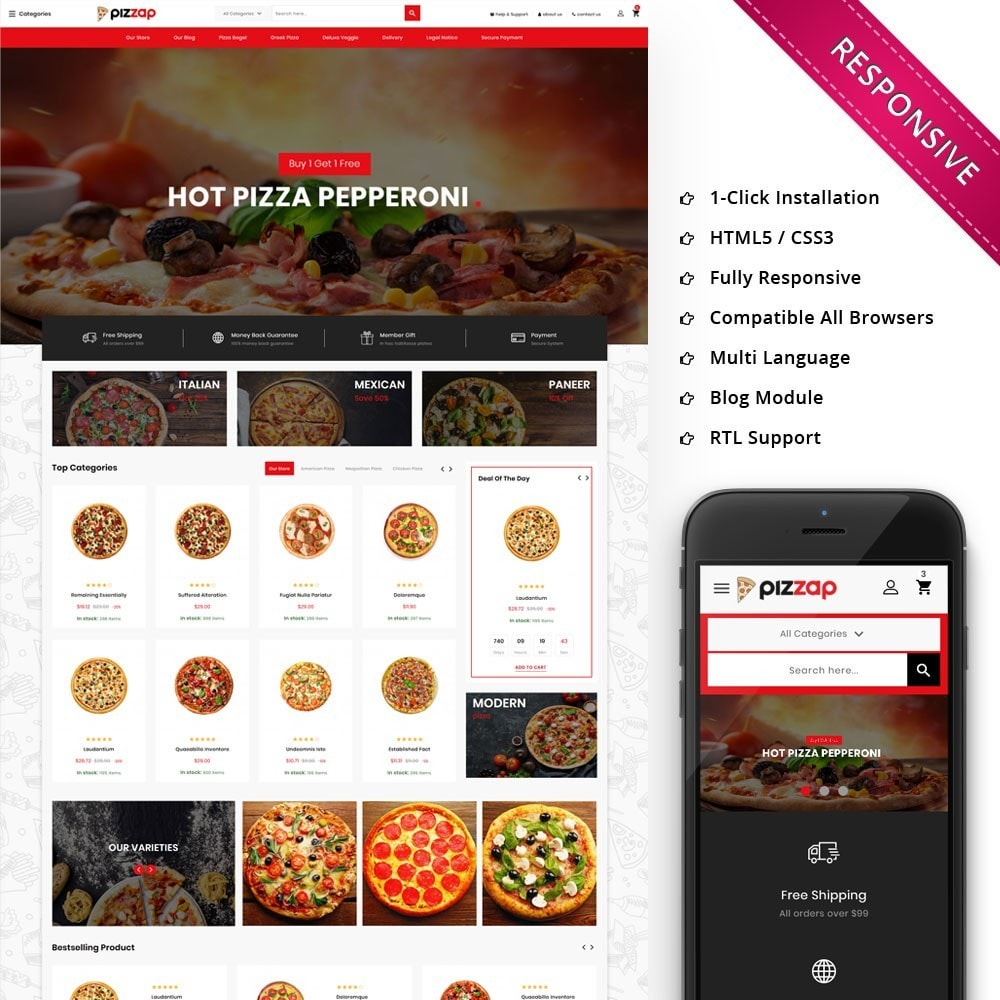 theme - Gastronomía y Restauración - Pizzap - The Fast Food Corner - 1