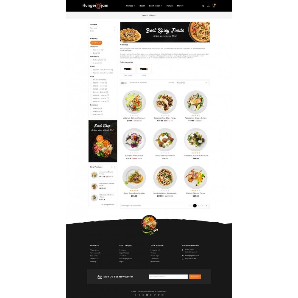 theme - Gastronomía y Restauración - Hunger Jam - Food & Dishes - 3