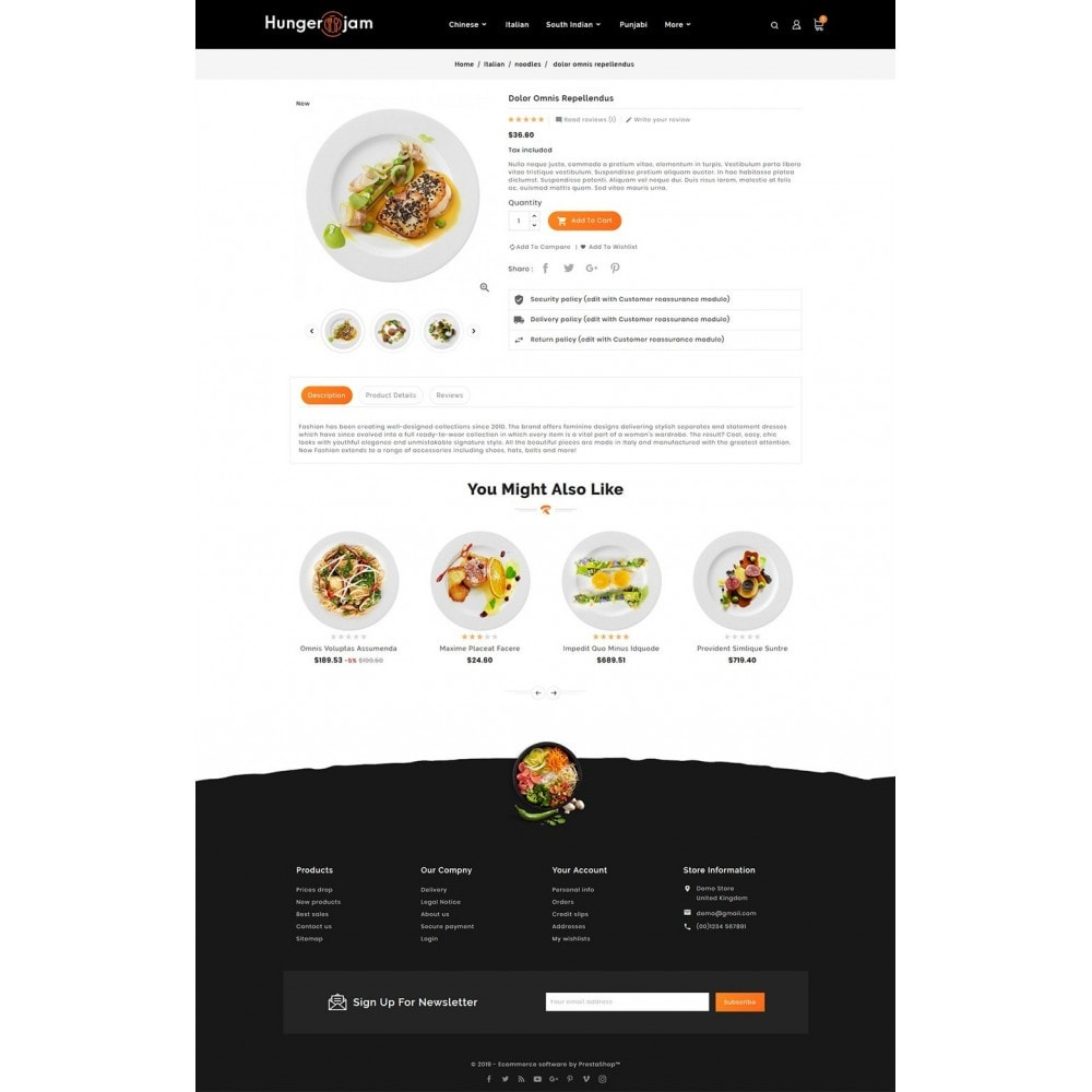 theme - Alimentos & Restaurantes - Hunger Jam - Food & Dishes - 5