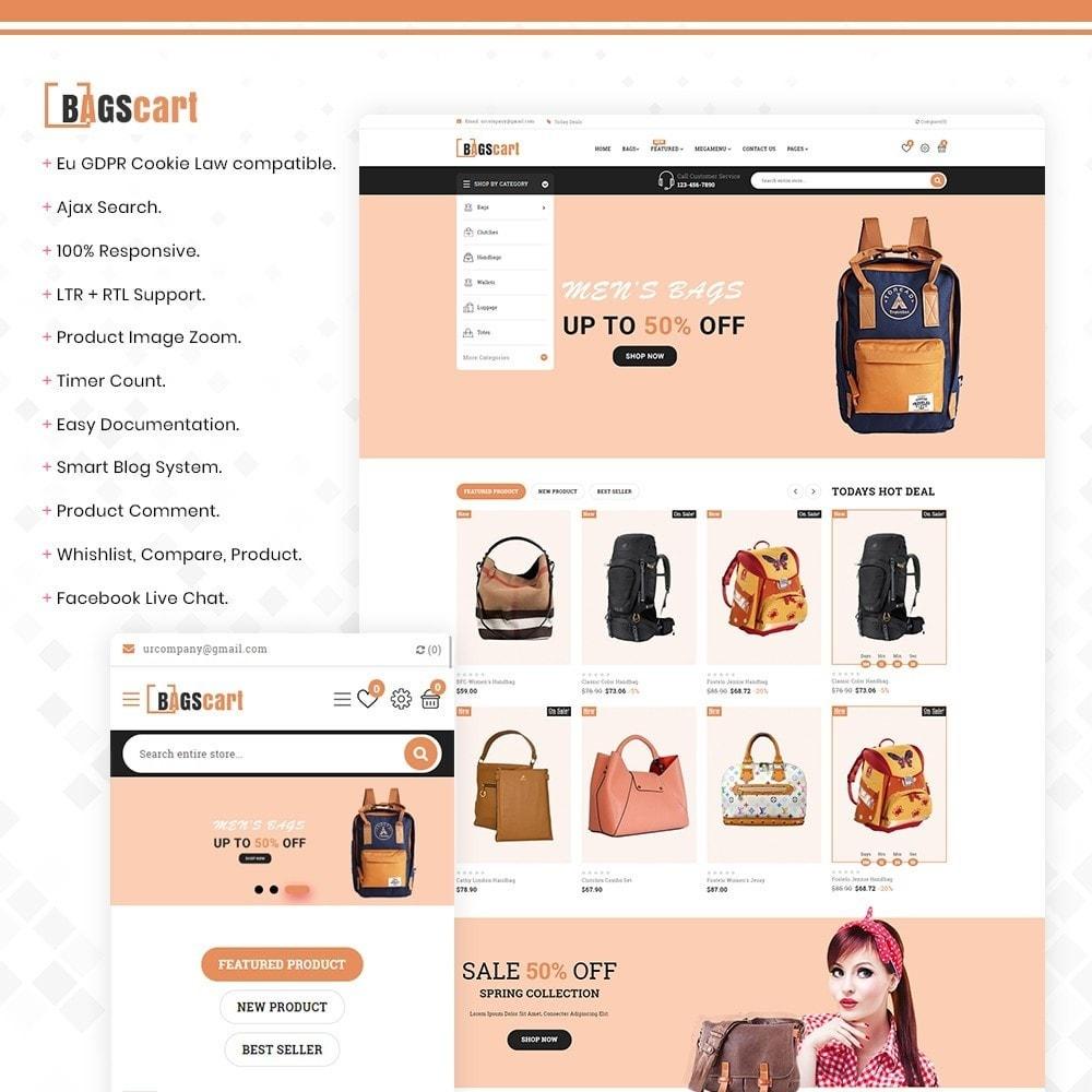theme - Fashion & Shoes - Bagscart - Multiporpose Mega Bag Store - 1