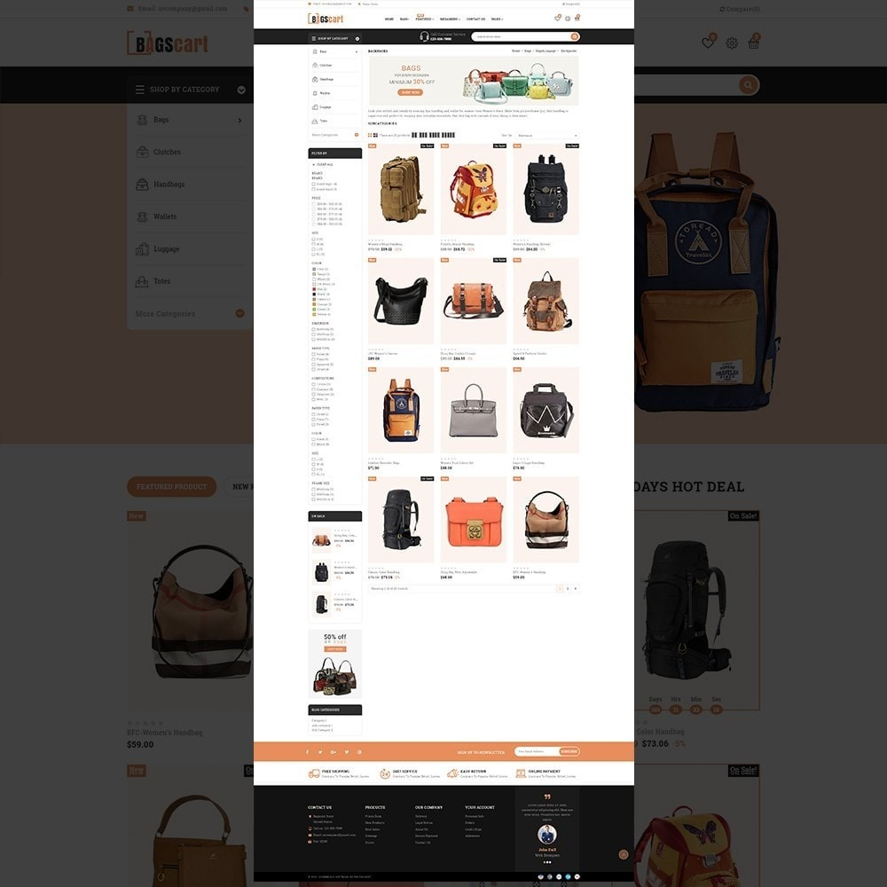 theme - Fashion & Shoes - Bagscart - Multiporpose Mega Bag Store - 11