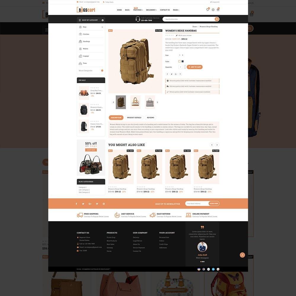 theme - Fashion & Shoes - Bagscart - Multiporpose Mega Bag Store - 14