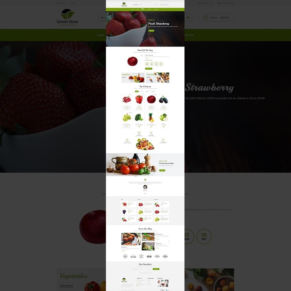 theme - Eten & Restaurant - Greenstore – Multipurpose Vegetable Store - 12